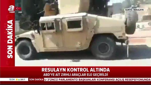Resulayn'da kontrol ele geçirildi! İşte YPG'nin elindeki ABD zırhlıları!