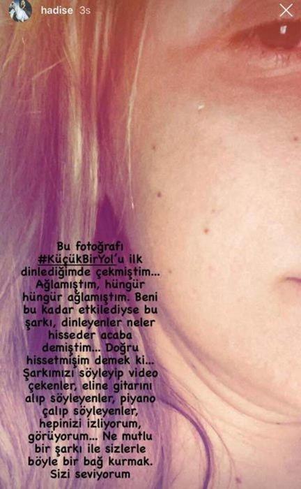 Hadise'nin gözyaşları onun için aktı... Şarkıcı Hadise ağladığı anları paylaştı!
