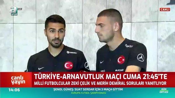 Milli Futbolcular Merih Demiral ve Zeki Çelik Açıklamalarda Bulundu!