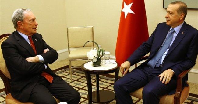 Cumhurbaşkanı Erdoğan Bloomberg'i kabul etti