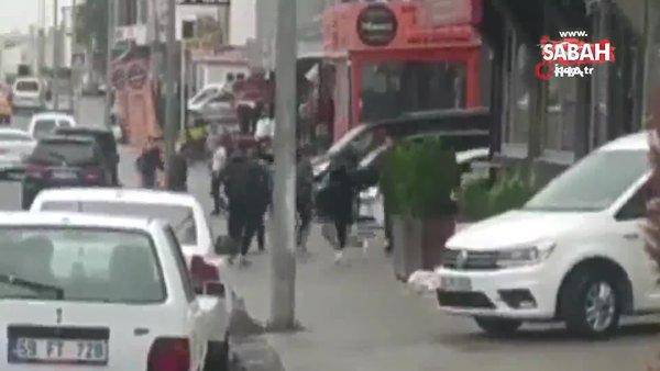 İstanbul'da boks ringlerini aratmayan bıçaklı yumruklu feci kavga kamerada | Video