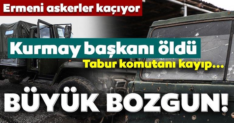 Son dakika haberi | Azerbaycan cephedeki son durumu duyurdu! Kurmay başkanı öldü, Ermeni askerler mevziden kaçıyor