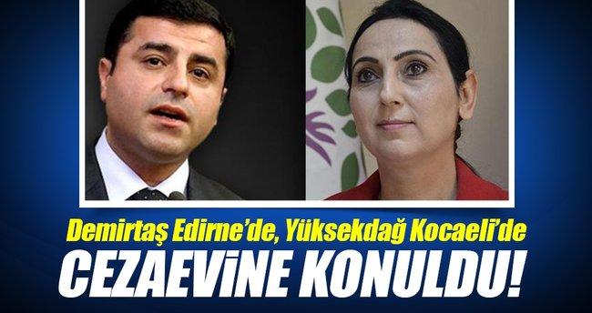 Demirtaş ve Yüksekdağ cezaevine konuldu!