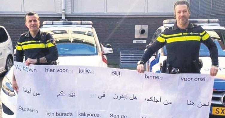 Hollanda polisinden Türkçe kampanya