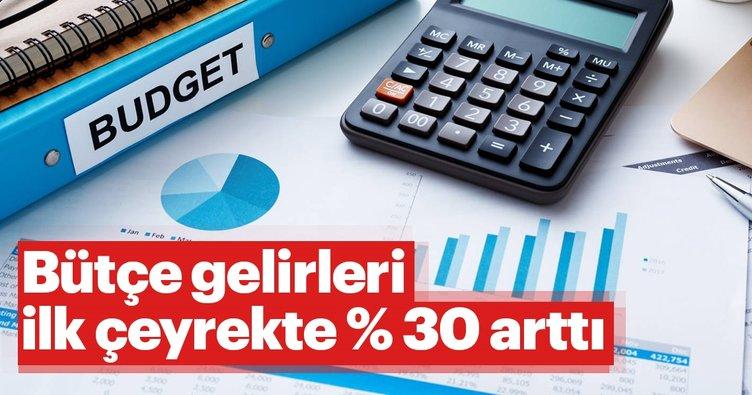 Bütçe gelirleri ilk çeyrekte % 30 arttı