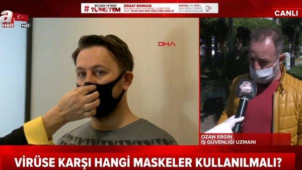 Siyah maskeler corona virüsünden korur mu? Uzman'dan canlı yayında flaş corona virüsü maskesi uyarısı | Video