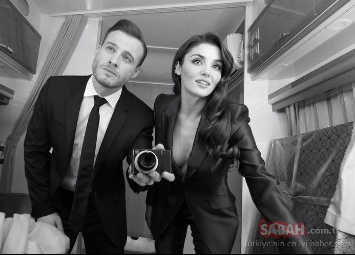 Güzel oyuncu Hande Erçel yeni yılı ablası Gamze Erçel'in evinde karşıladı! Hande Erçel'in yırtmaçlı mini elbisesi sosyal medyayı salladı