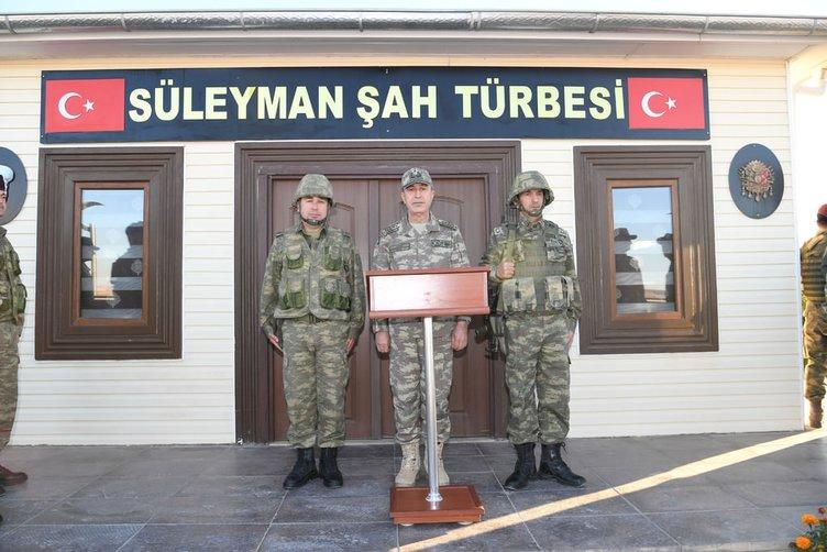 Genelkurmay Başkanı Akar'dan Süleyman Şah ziyareti!