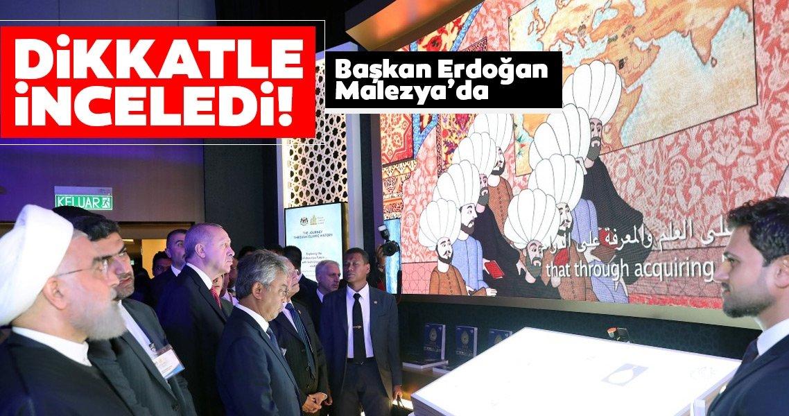 Cumhurbaşkanı Erdoğan Kuala Lumpur'da! Oturumun ardından sergi alanını gezdi