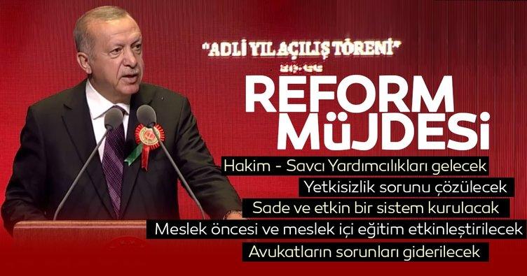 Başkan Erdoğan Adli Yıl açılışında konuştu: Sade ve etkin bir işleyişi temin edeceğiz
