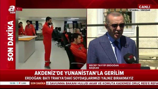 Son dakika | Başkan Erdoğan'dan Cuma namazı çıkışında çok sertDoğu Akdenizaçıklaması | Video