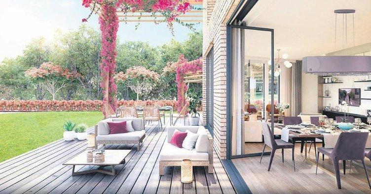 Ormanköy'ün bahçe villa ve teras loftlarına yoğun talep