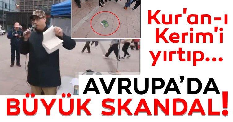 Finlandiya'da skandal! Seçim propagandası yapan aşırı sağcı lider Kur'an-ı Kerim'i  yırtıp yere attı