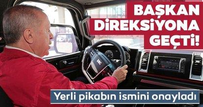Başkan Erdoğan, yerli pikap aracı kullandı
