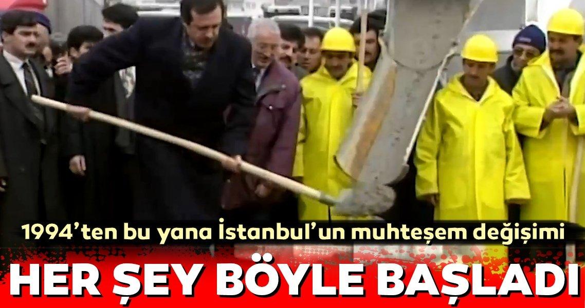 1994'ten bu yana İstanbul'un muhteşem değişimi... İBB paylaştı...