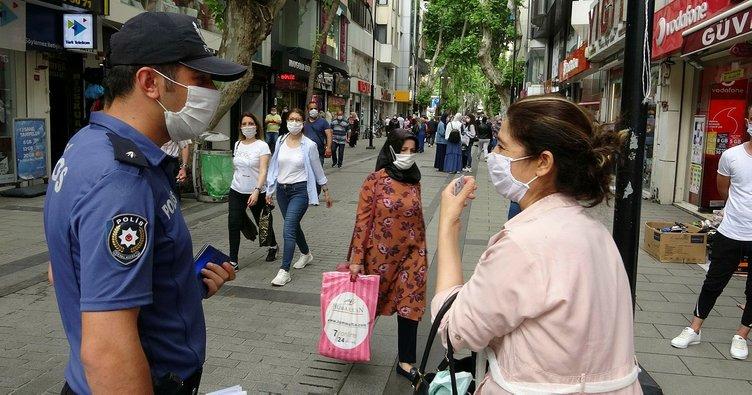Maske takmayanlar tek tek uyarıldı!
