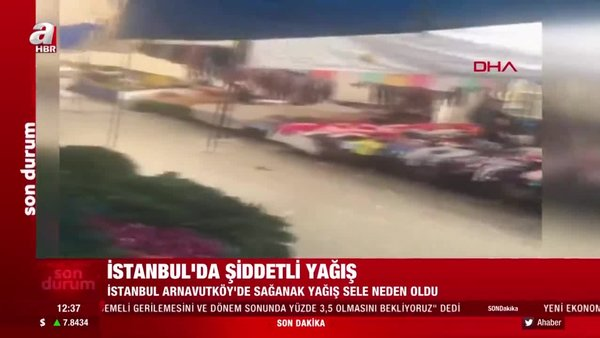 Son dakika haberi... İstanbul'da şiddetli yoğun yağışı! Caddeler sular altında kaldı | Video