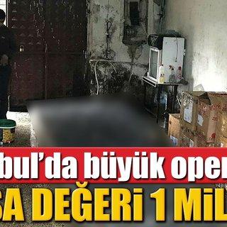 Polisten 1 milyonluk sahte içki operasyonu