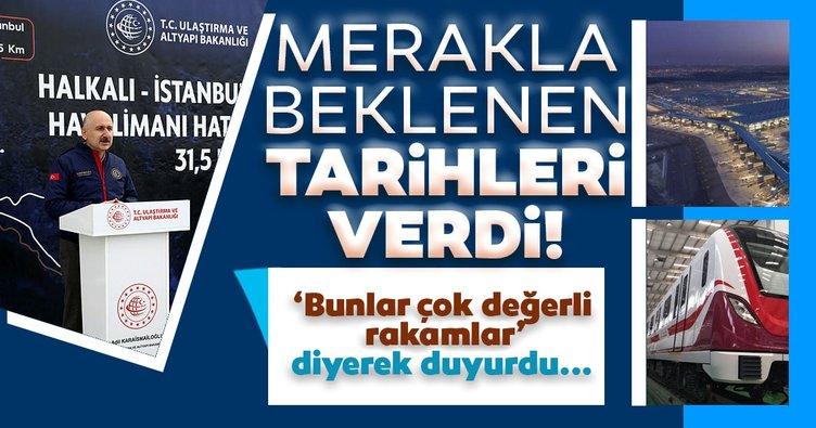 'Çok değerli rakamlar' diyerek duyurdu… Halkalı-İstanbul Havalimanı Metro Hattı'nda tarihler belli oldu!