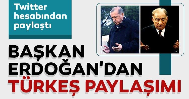 Cumhurbaşkanı Erdoğan'dan Türkeş paylaşımı