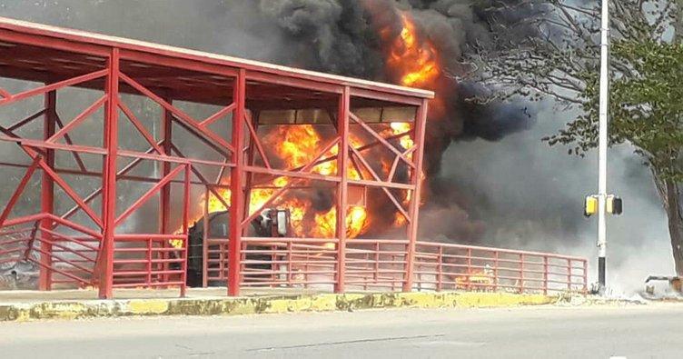 Venezuela'da yakıt tankerinde patlama