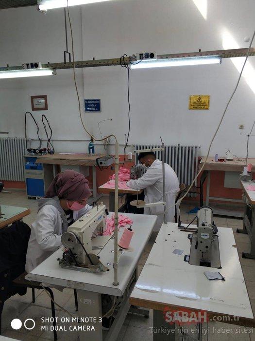 Koronavirüse karşı yıkanabilir kumaştan maske üretimi yapıyorlar!