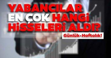 Borsa İstanbul'da günlük-haftalık yabancı payları 18/08/2020