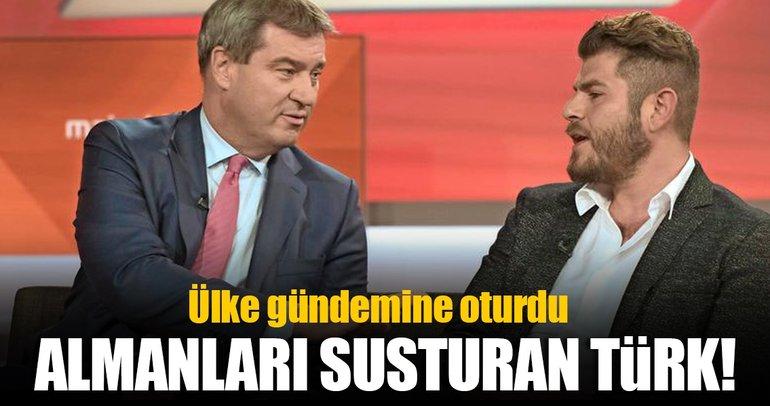 Almanları susturan Türk!
