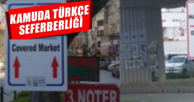 Kamuda Türkçe seferberliği başladı