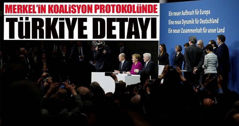 Almanya'da CDU, CSU ve SPD koalisyon hükümeti kuruldu