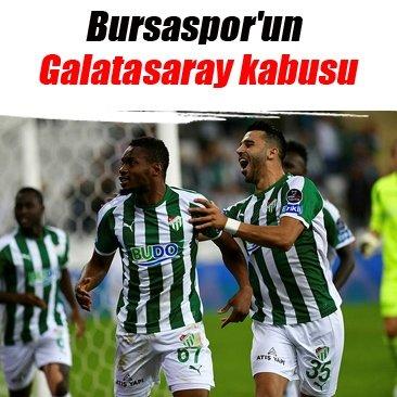 Bursaspor'un Galatasaray kabusu
