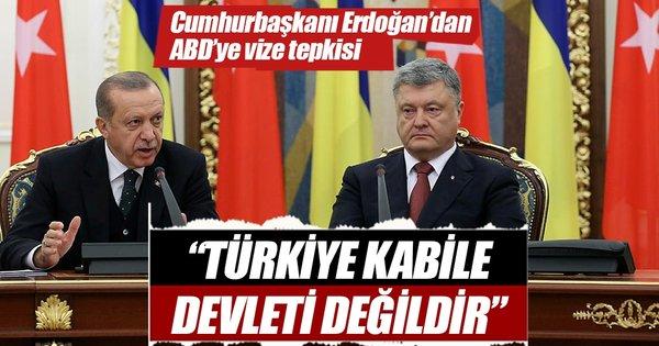 Cumhurbaşkanı Erdoğan'dan ABD'nin skandal vize kararına ilişkin açıklama