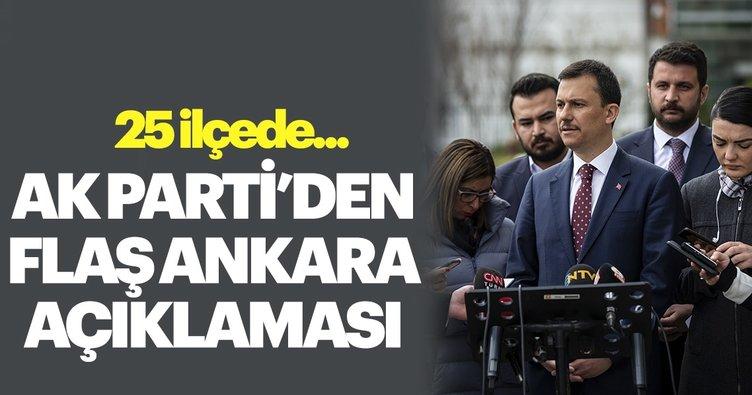 AK Parti'li Şahin: Ankara İl Seçim Kurulu'na yeniden müracaat edeceğiz