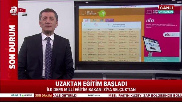 TRT EBA TV'de ilk uzaktan eğitim dersi canlı yayınla Bakan Selçuk'tan (23 Mart 2020 Pazartesi)  | Video