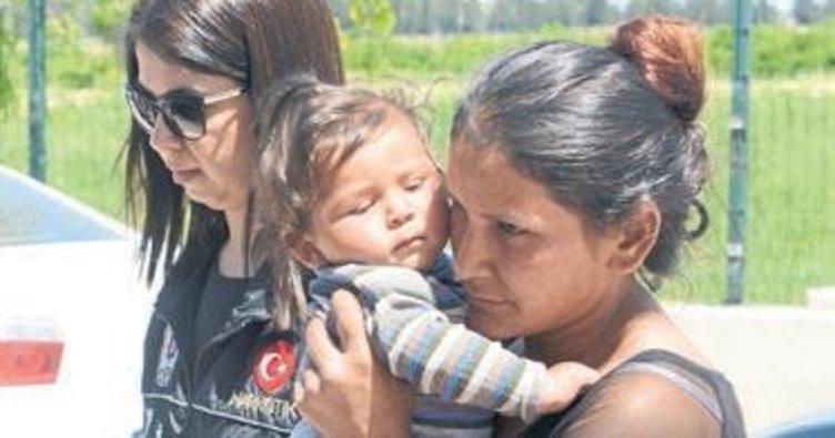Kucağında bebeğiyle cezaevine konuldu