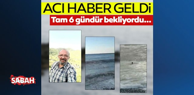 Rize'de denizde kaybolan kişinin cesedi Gürcistan'da bulundu