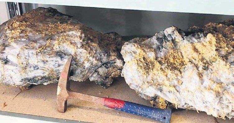 4 milyon dolarlık altın kaplama dev kayalar