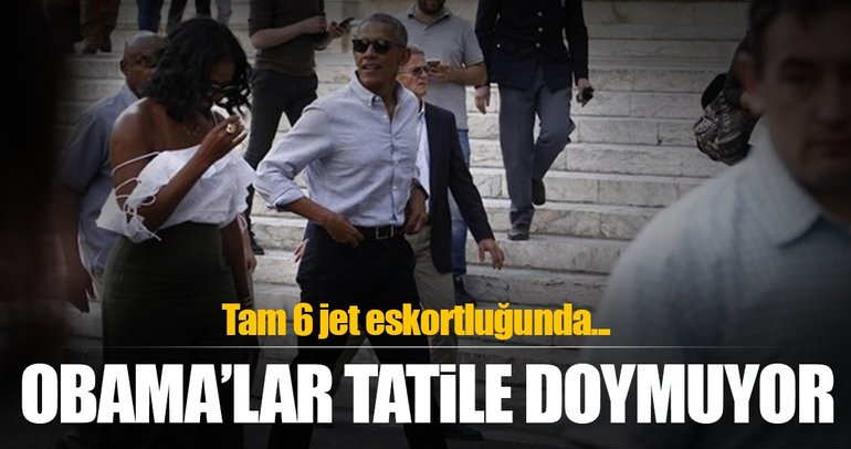 Barack Obama ve Michelle Obama İtalya'da