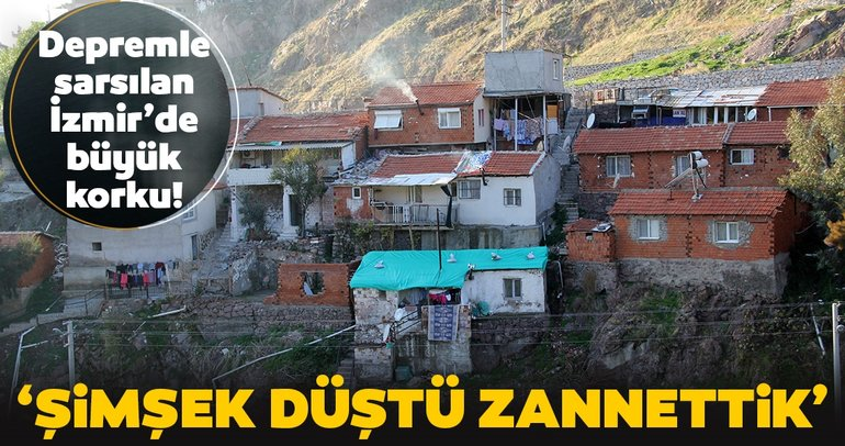 İzmir'de depremden sonra heyelan paniği!