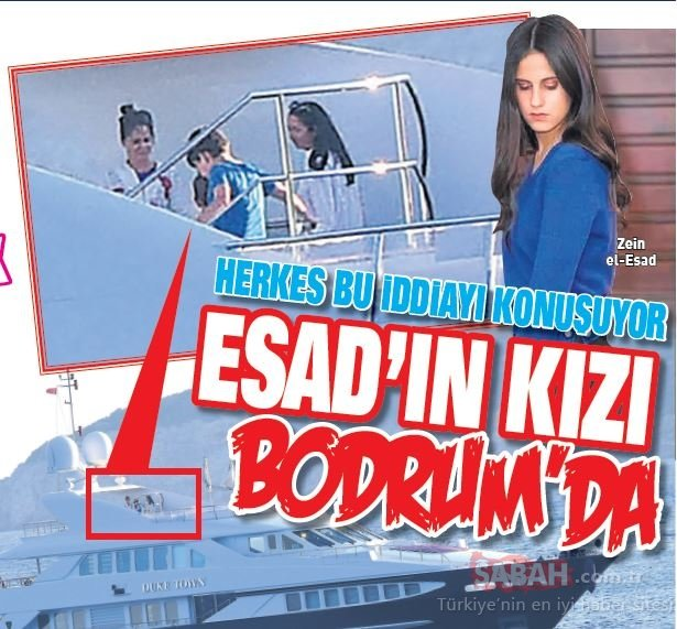 Beşar Esad'ın kızı Zein el-Esead Bodrum'da! Herkes bu iddiayı konuşuyor