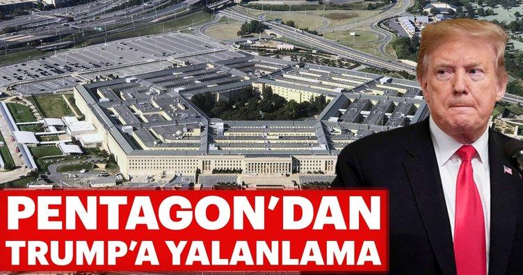 Pentagon'dan, Trump'a yalanlama