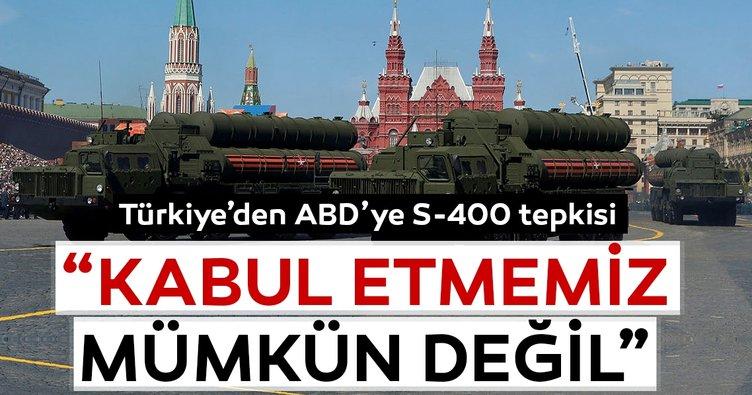 Son dakika haberi: Türkiye'den ABD'ye sert S-400 tepkisi