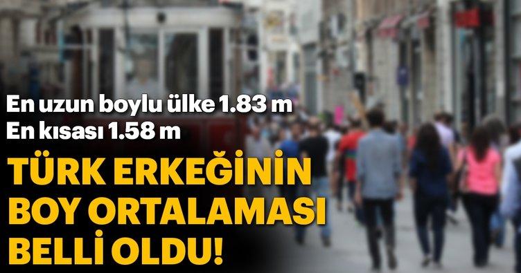 Türkiyenin boy ortalaması 1.74 metre
