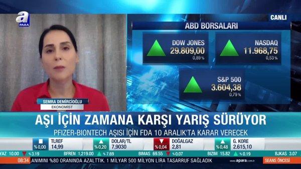 Ekonomist Semra Demircioğlu: Dünya Sağlık Örgütü'nün tünelin sonunda ışık olduğunu vurgulaması olumlu olarak karşılanıyor