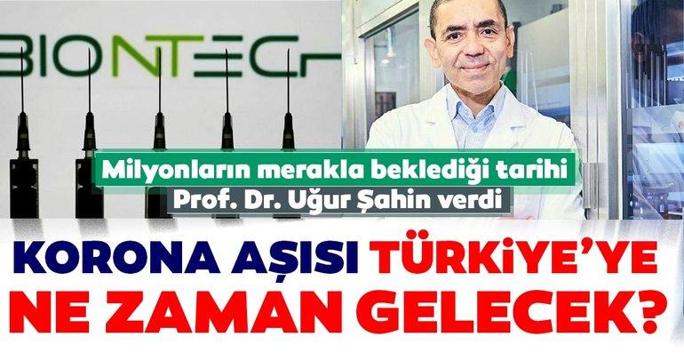 SON DAKİKA! Corona virüs aşısı Türkiye'ye ne zaman geliyor? Dünyanın konuştuğu Türk Prof. Dr. Uğur Şahin açıkladı...