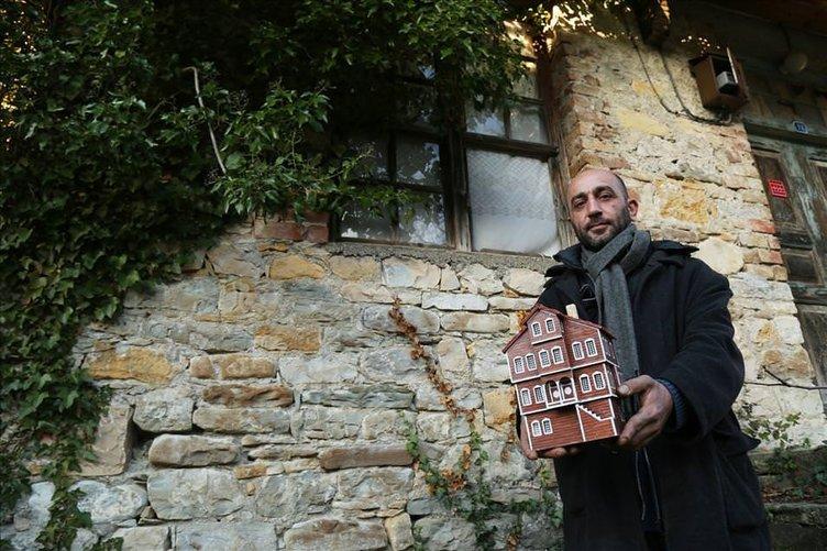 Ahşap atıkları yöresel Kastamonu evleriyle hayat buldu