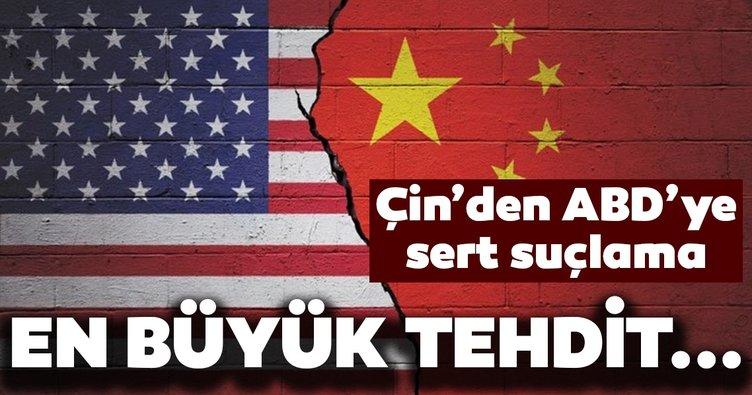 Çin'den ABD'ye tepki! Çin, ABD'yi dünya barışının önündeki en büyük tehdit olmakla suçladı