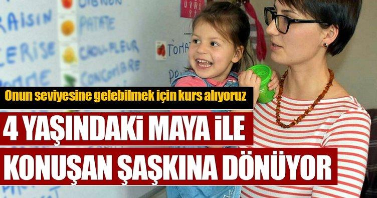 Maya 4 yaşında, 6 dil konuşuyor