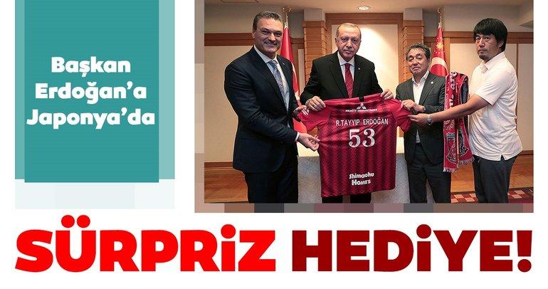 Başkan Erdoğan'a Japonya'da sürpriz hediye!