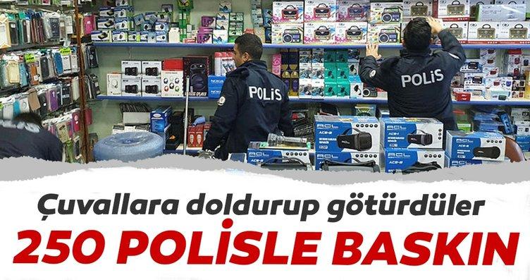 Iğdır'da 250 polisle kaçak cep telefonu operasyonu